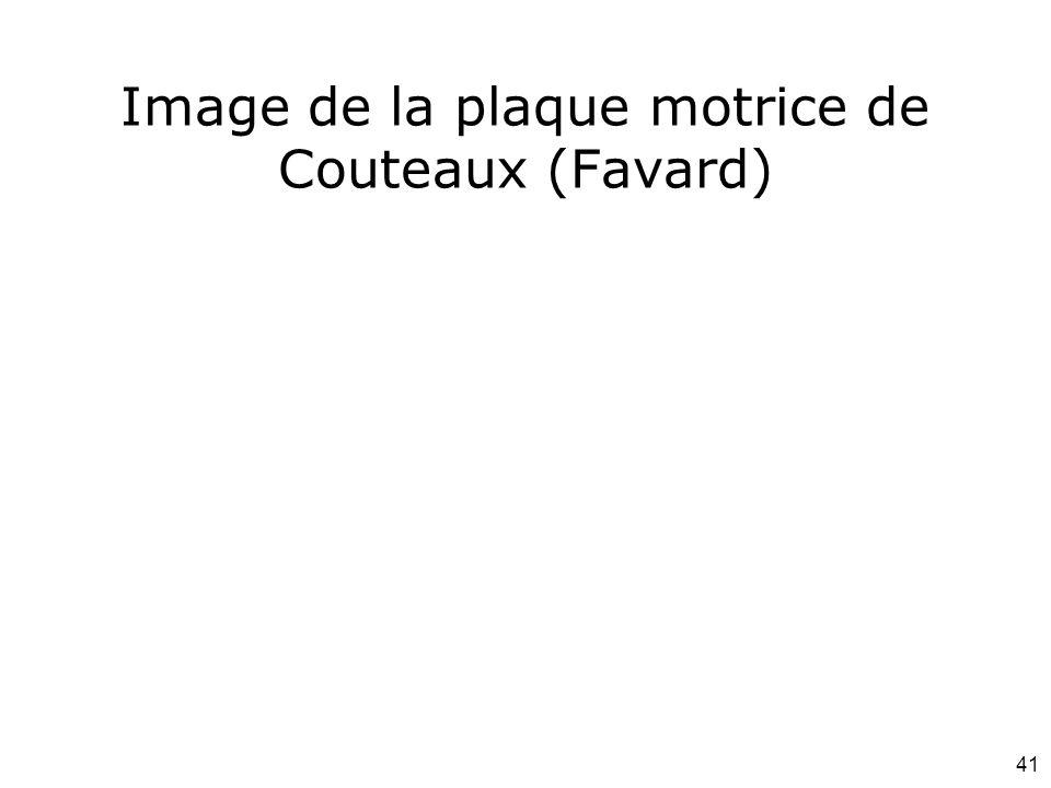 Image de la plaque motrice de Couteaux (Favard)