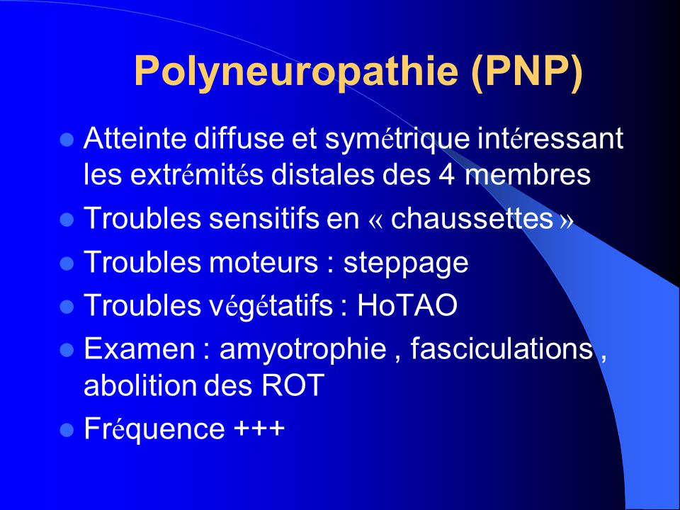 Polyneuropathie (PNP)