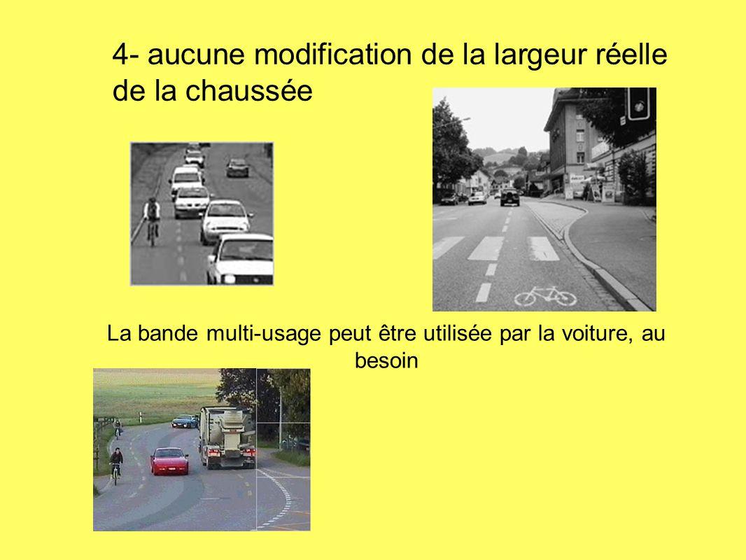 La bande multi-usage peut être utilisée par la voiture, au besoin