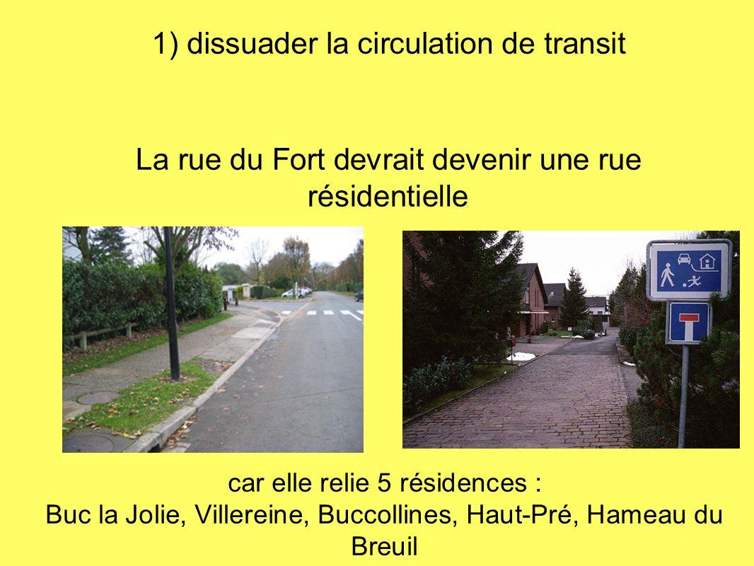 1) dissuader la circulation de transit