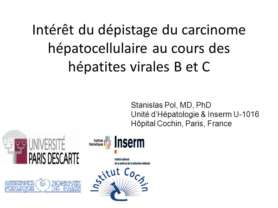 Intérêt du dépistage du carcinome hépatocellulaire au cours des hépatites virales B et C