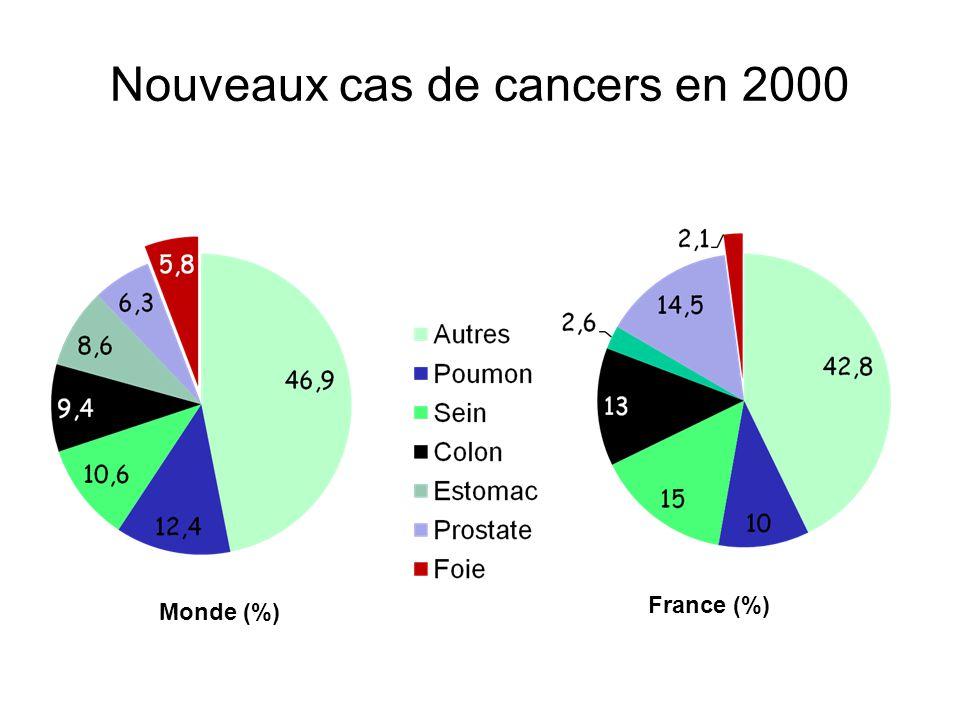 Nouveaux cas de cancers en 2000
