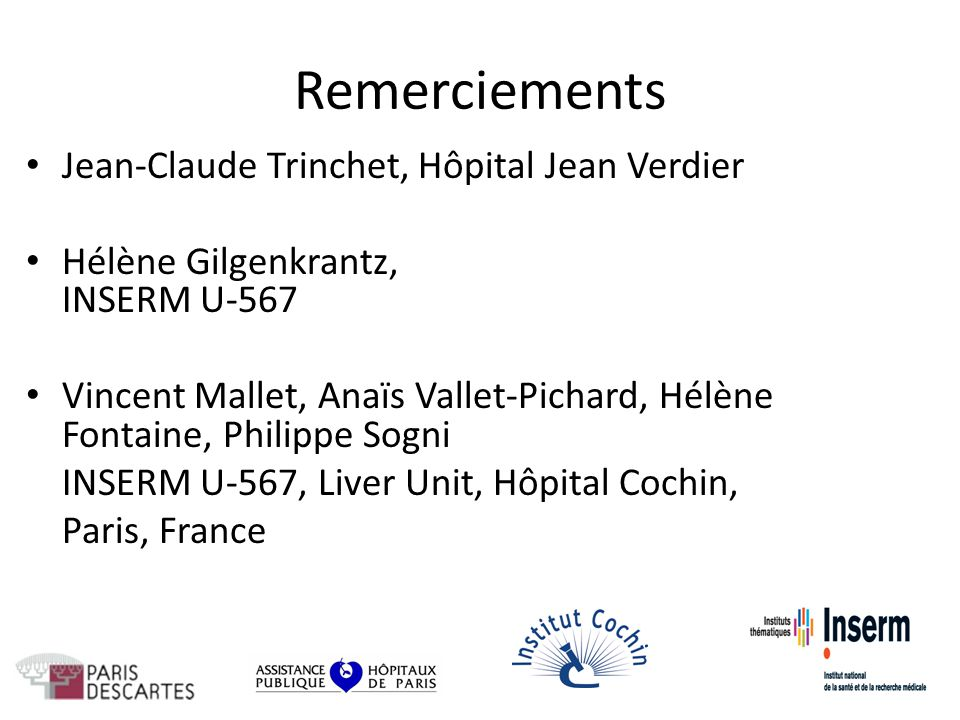 Remerciements Jean-Claude Trinchet, Hôpital Jean Verdier