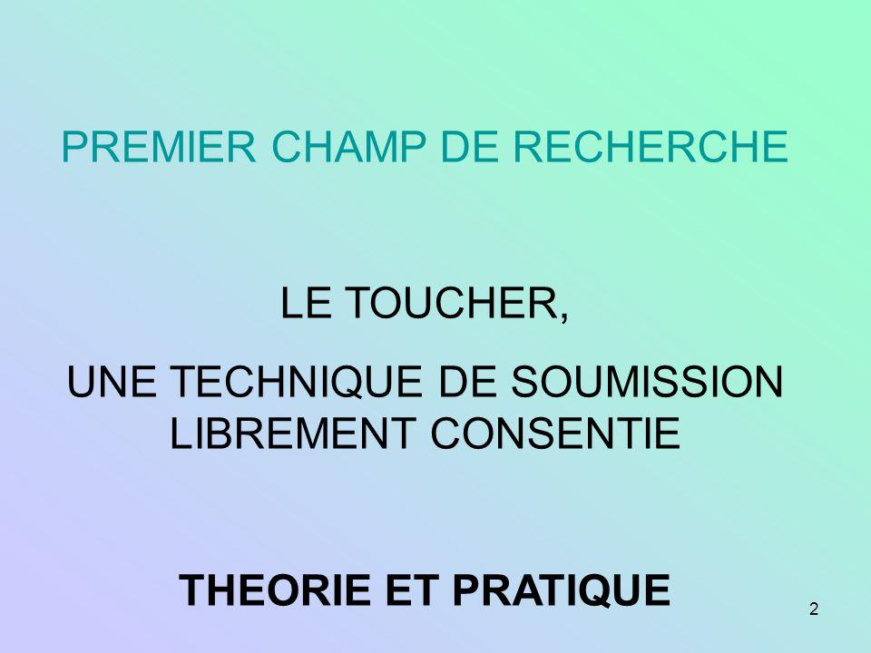 PREMIER CHAMP DE RECHERCHE