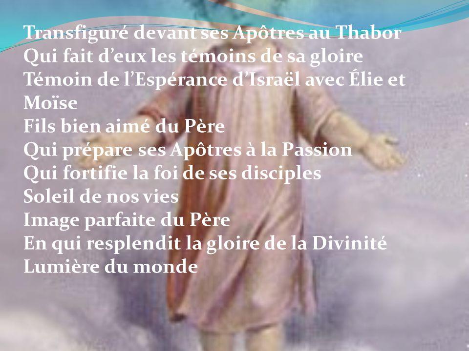 Transfiguré devant ses Apôtres au Thabor