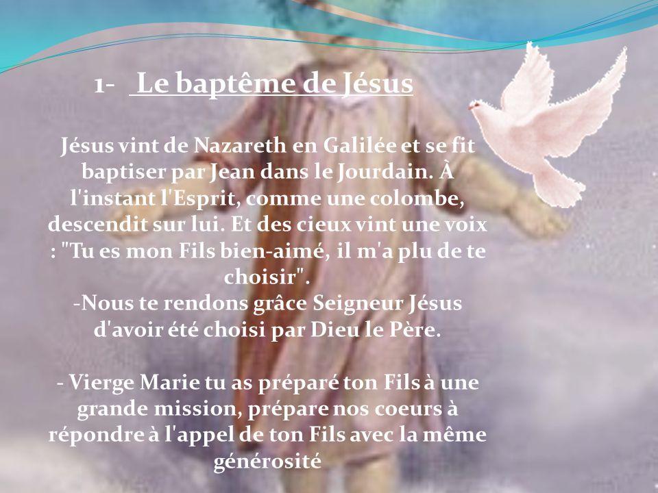 1- Le baptême de Jésus