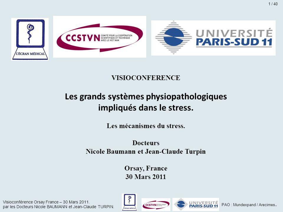 Les grands systèmes physiopathologiques impliqués dans le stress.