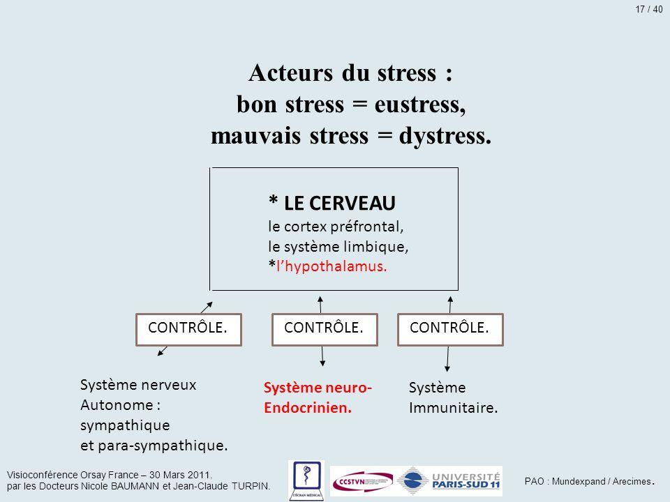 mauvais stress = dystress.