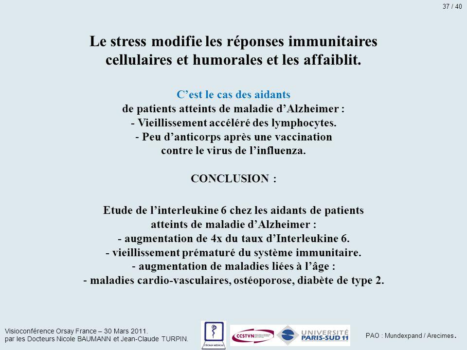 Le stress modifie les réponses immunitaires