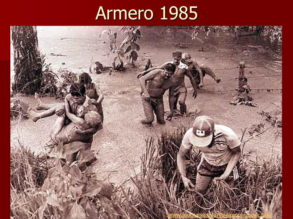60% des habitants du municipe d'Armero