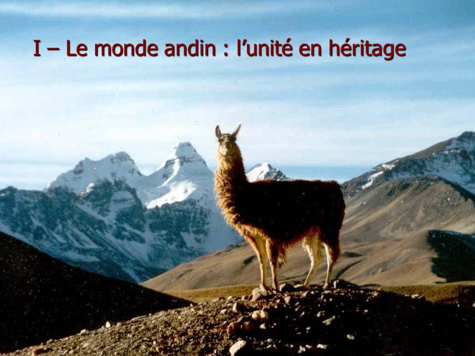 I – Le monde andin : l'unité en héritage