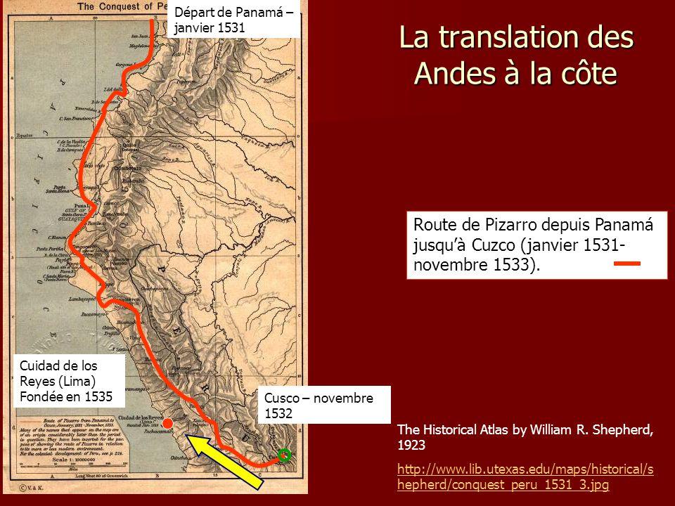 La translation des Andes à la côte