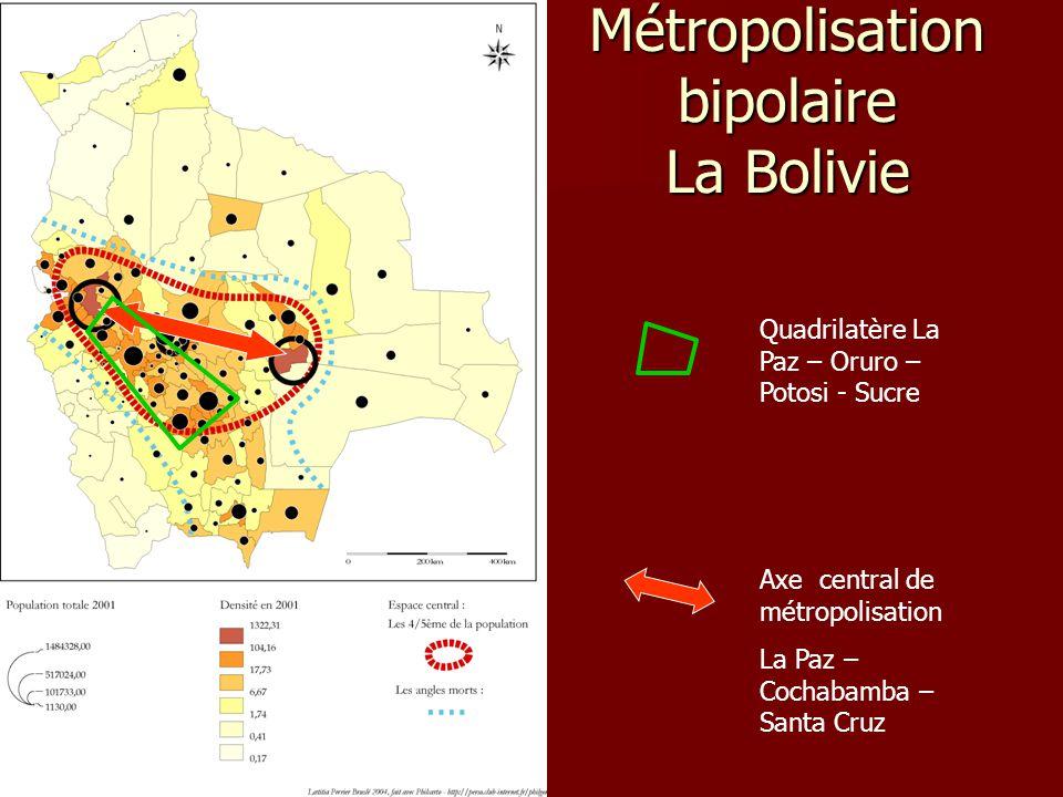 Métropolisation bipolaire La Bolivie