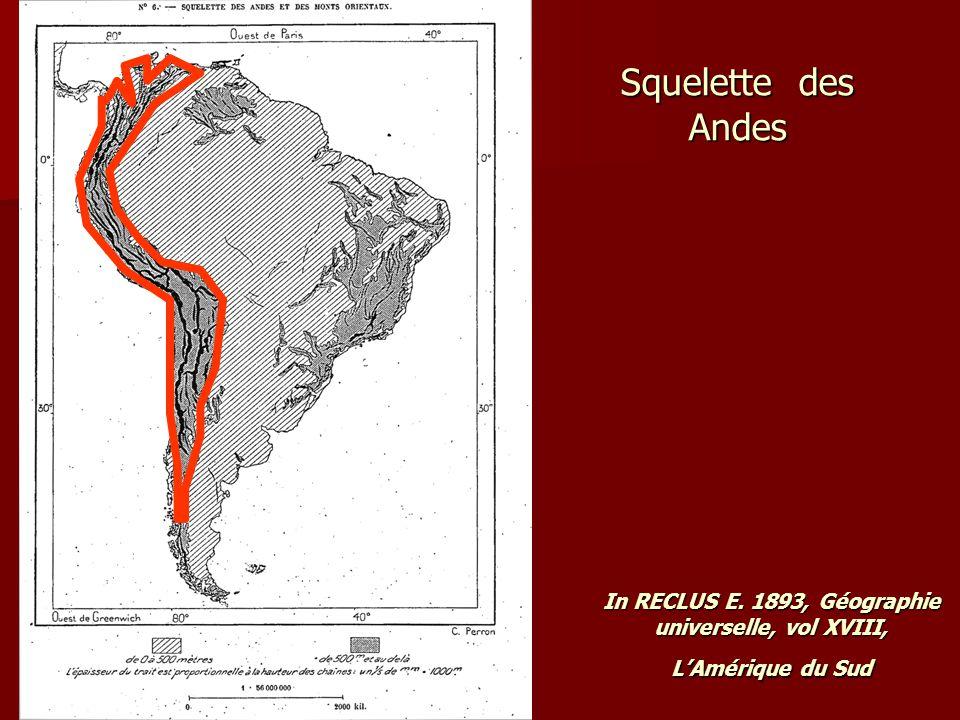Squelette des Andes In RECLUS E. 1893, Géographie universelle, vol XVIII, L'Amérique du Sud