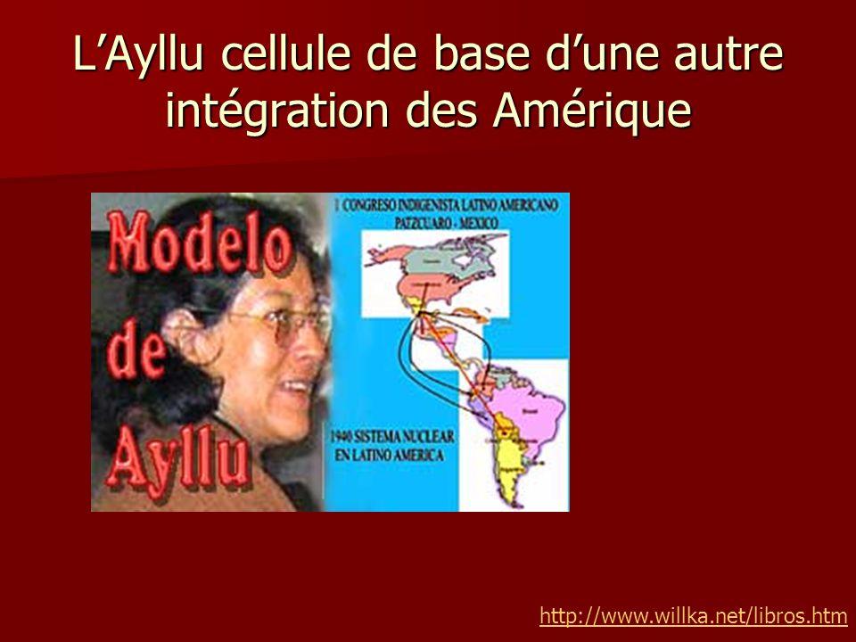 L'Ayllu cellule de base d'une autre intégration des Amérique