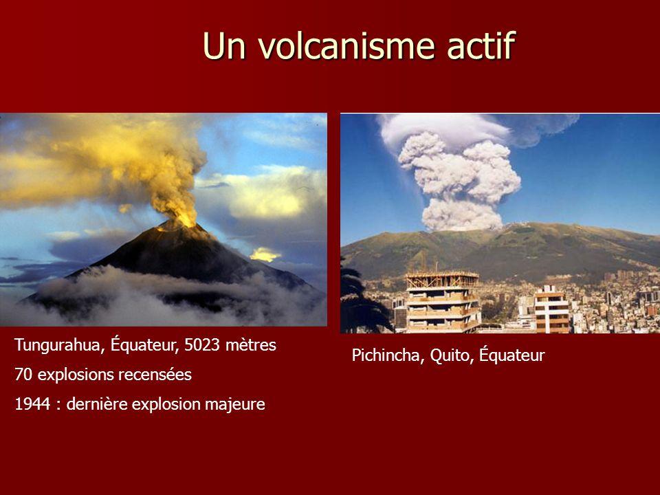 Un volcanisme actif Tungurahua, Équateur, 5023 mètres