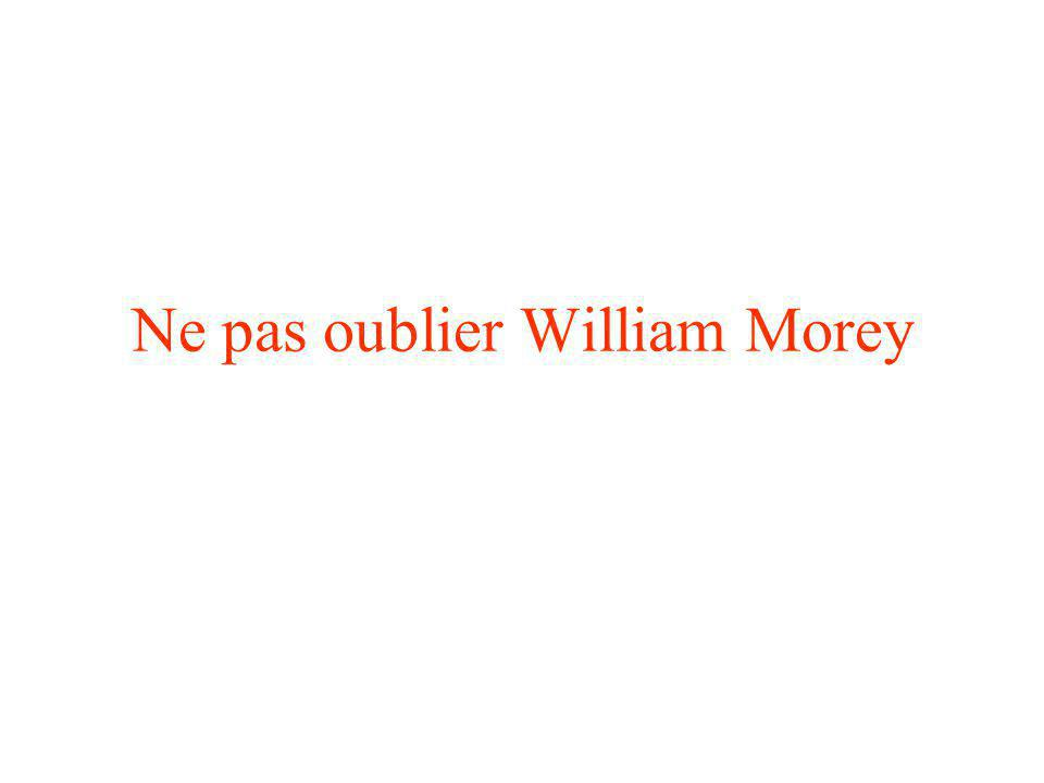 Ne pas oublier William Morey