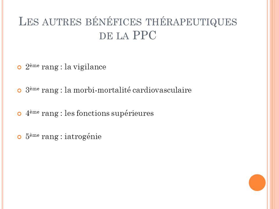 Les autres bénéfices thérapeutiques de la PPC