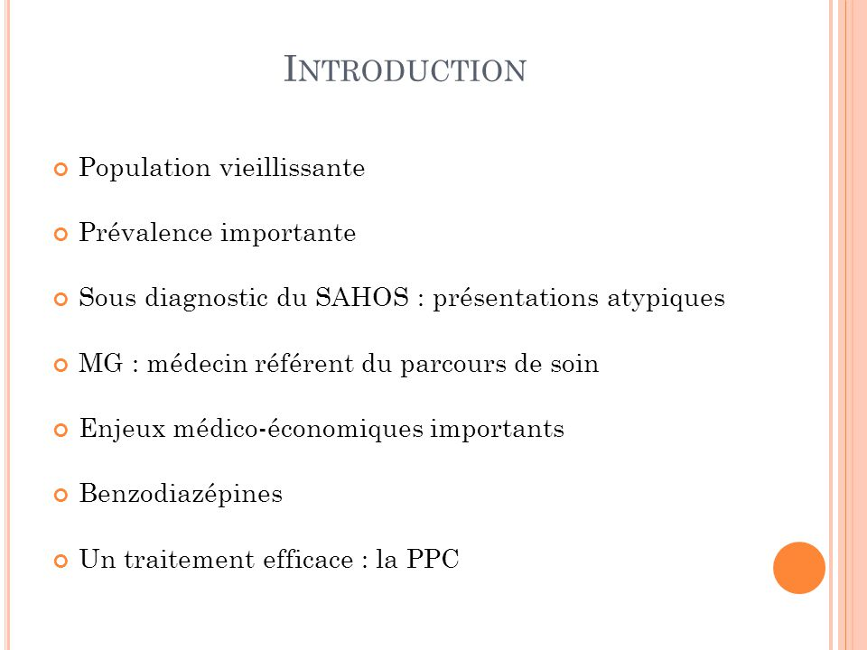 Introduction Population vieillissante Prévalence importante