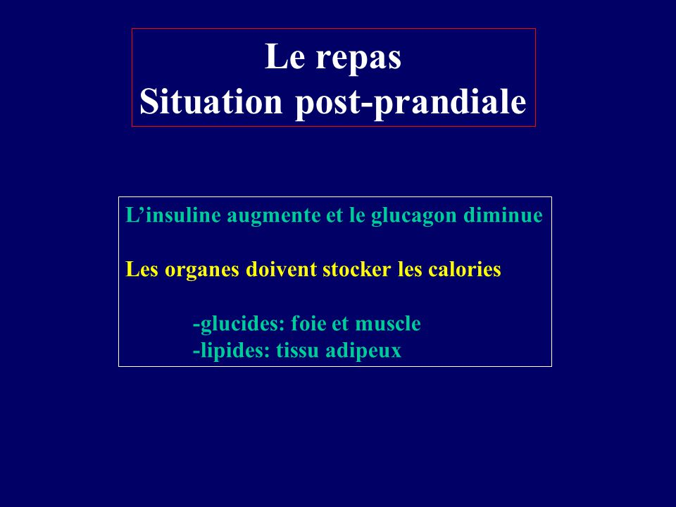 Situation post-prandiale