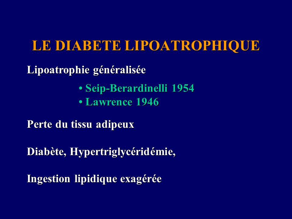LE DIABETE LIPOATROPHIQUE