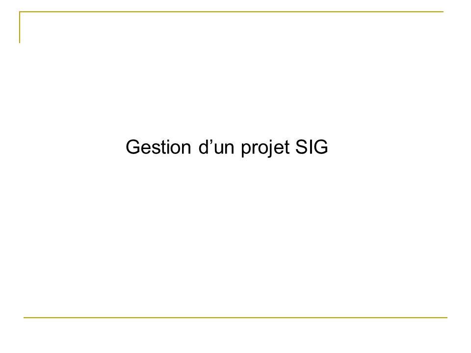 Gestion d'un projet SIG