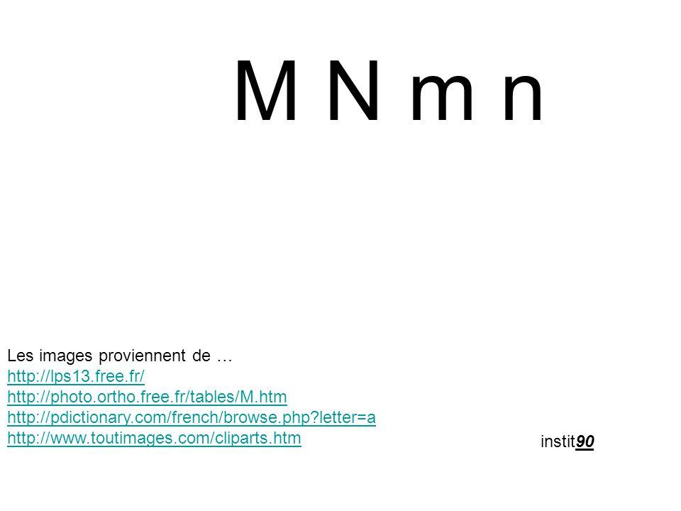 M N m n Les images proviennent de … http://lps13.free.fr/