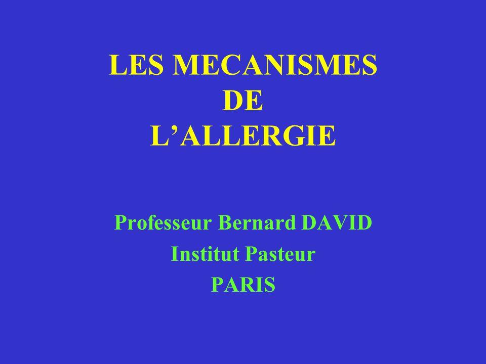 LES MECANISMES DE L'ALLERGIE