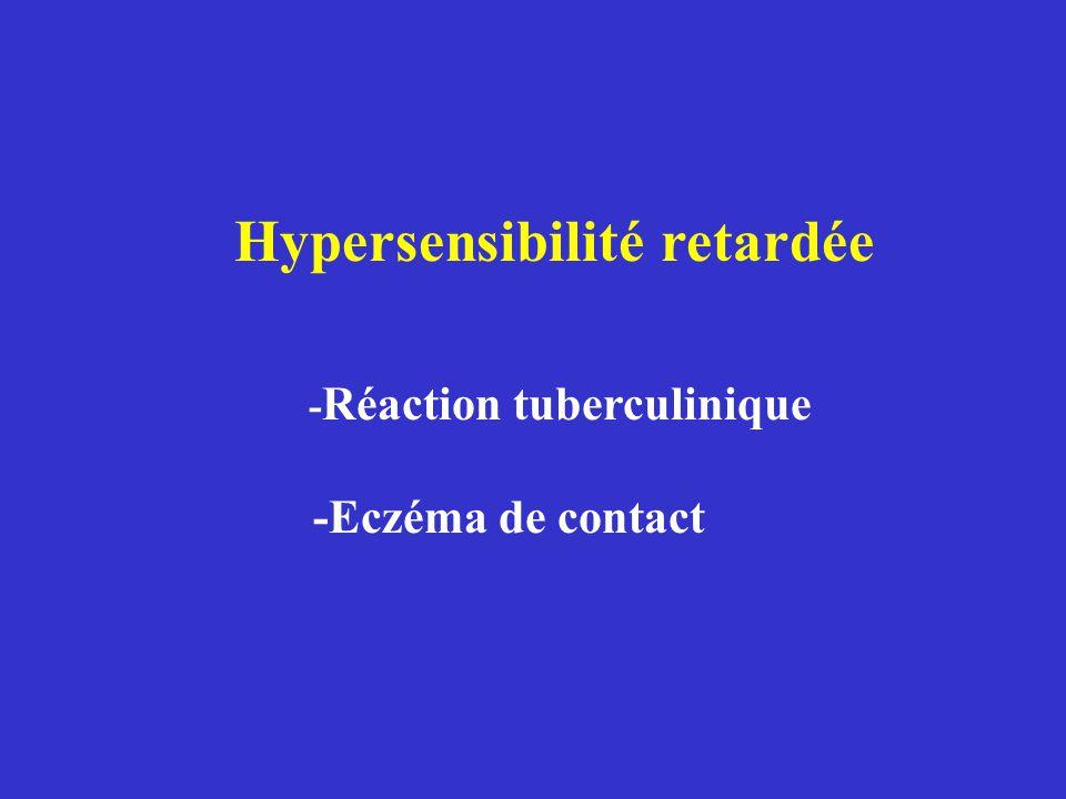 Hypersensibilité retardée -Réaction tuberculinique