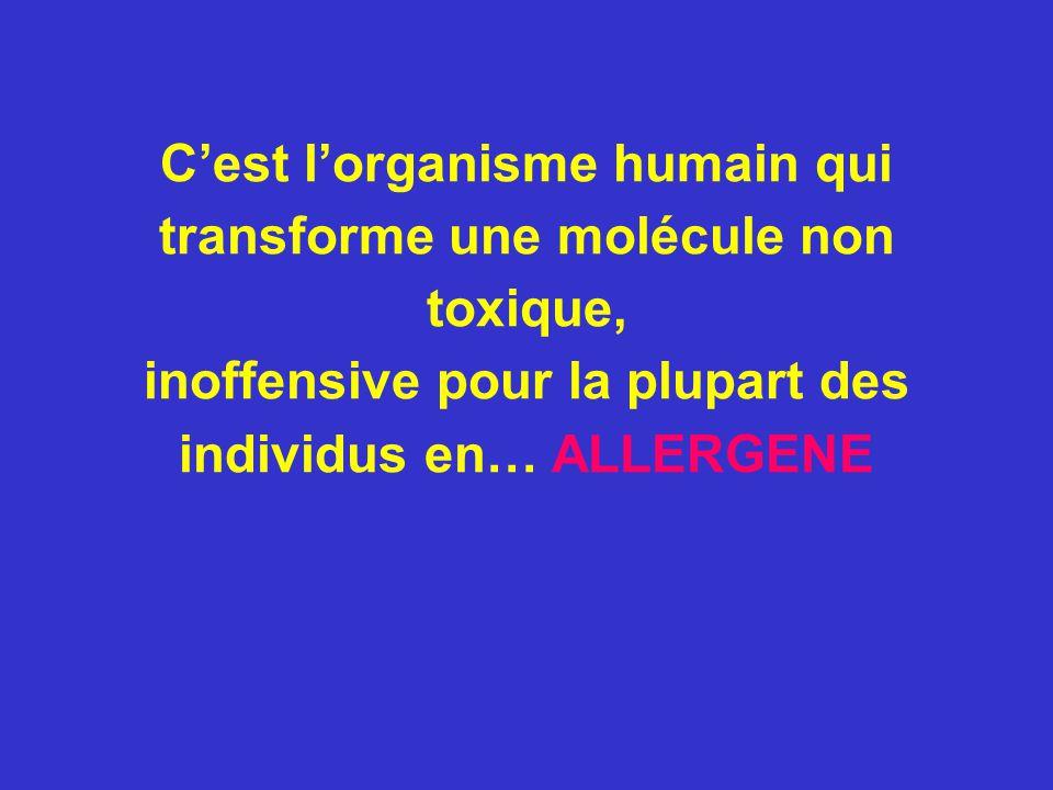 C'est l'organisme humain qui transforme une molécule non toxique,