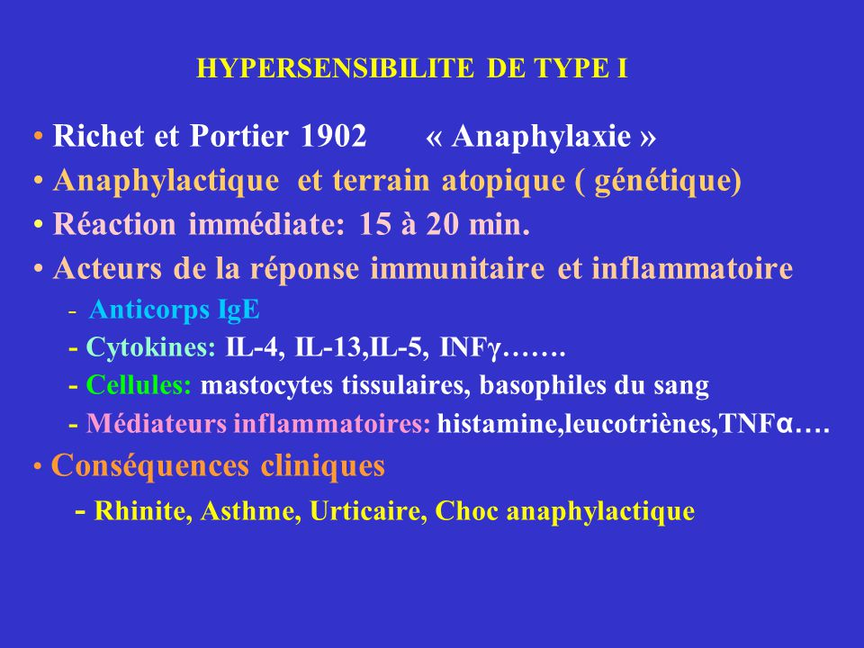 Richet et Portier 1902 « Anaphylaxie »