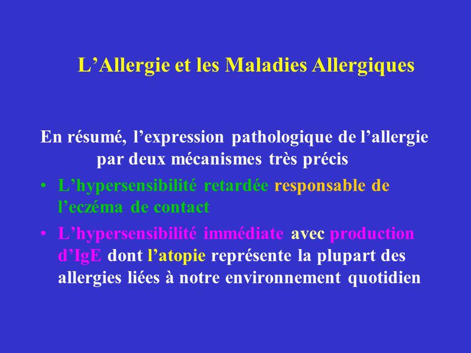 L'Allergie et les Maladies Allergiques