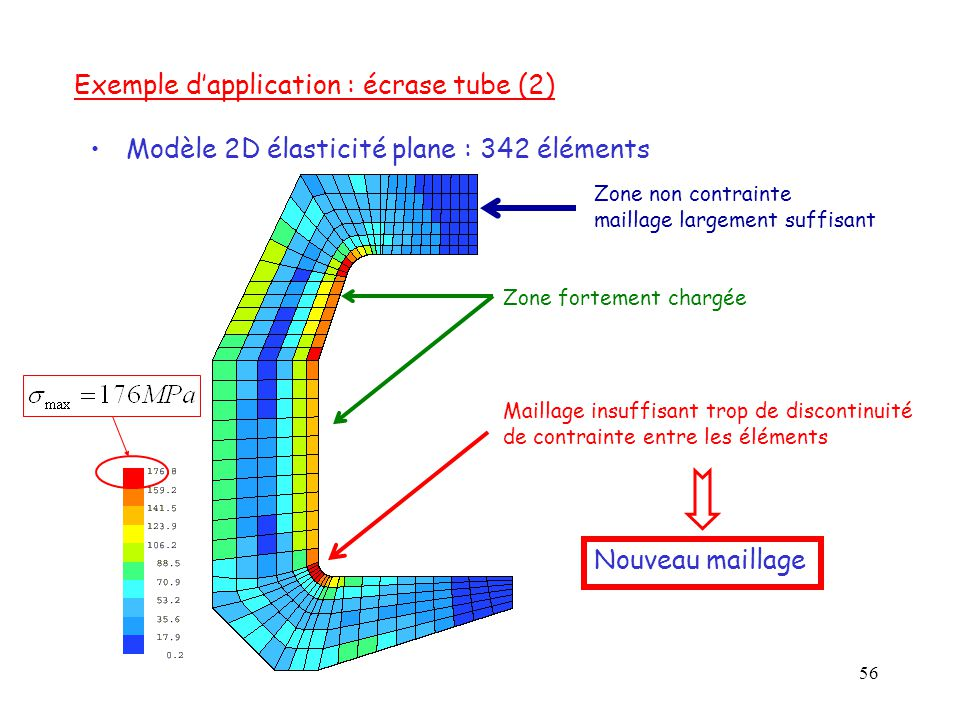 Exemple d'application : écrase tube (2)