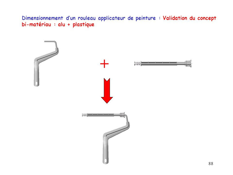 Dimensionnement d'un rouleau applicateur de peinture : Validation du concept