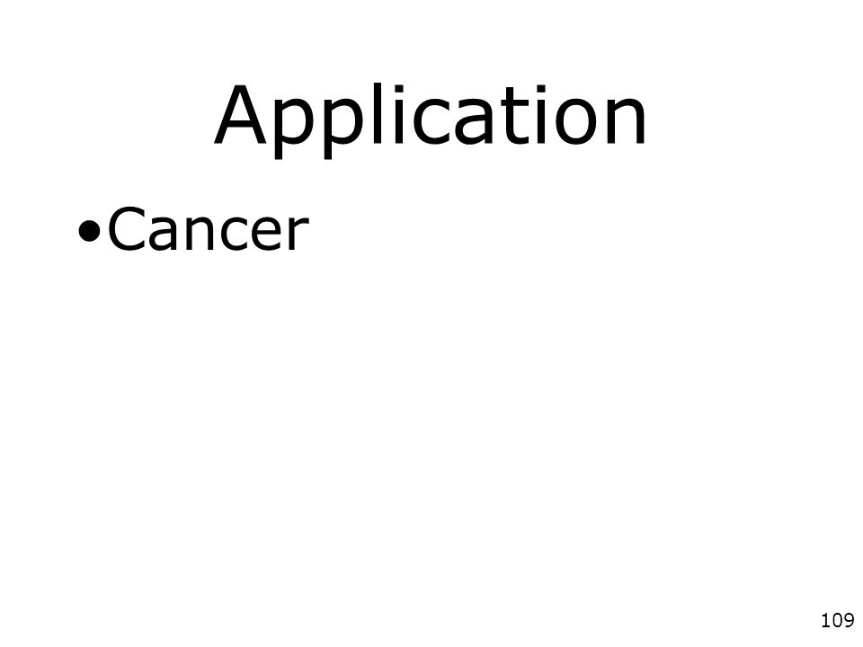 Application Cancer