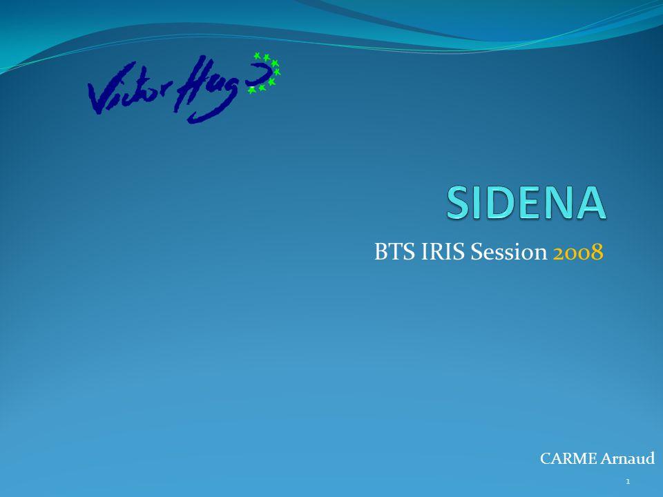 SIDENA BTS IRIS Session 2008 CARME Arnaud