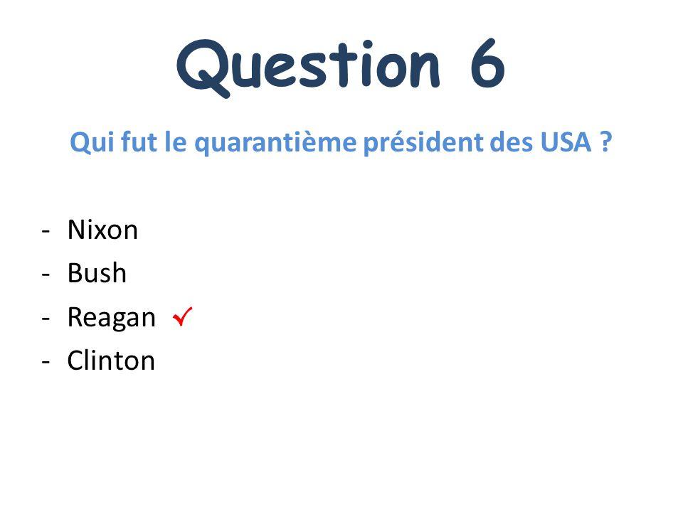 Qui fut le quarantième président des USA