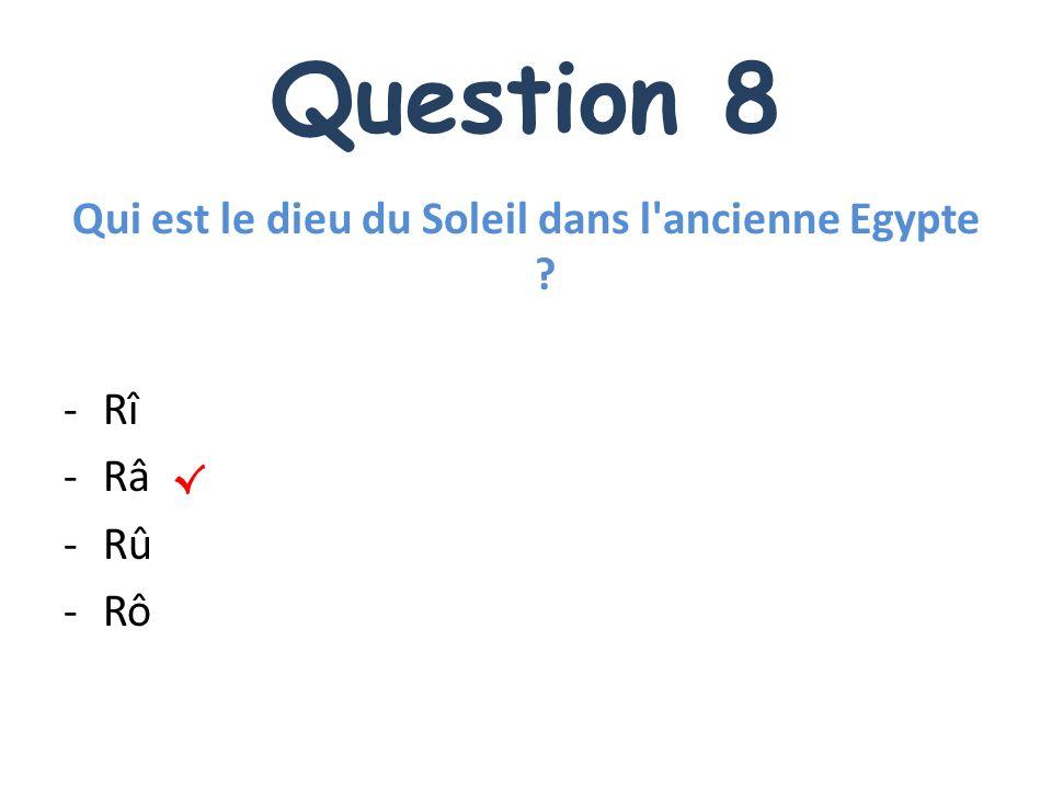 Qui est le dieu du Soleil dans l ancienne Egypte