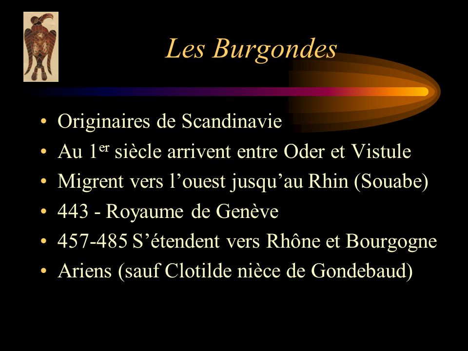 Les Burgondes Originaires de Scandinavie