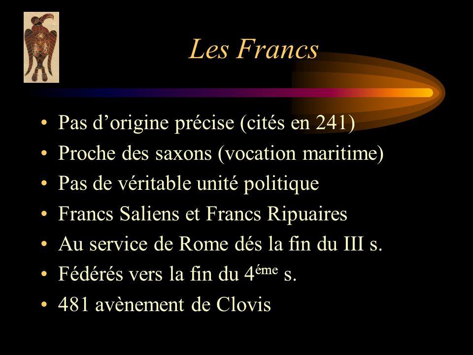 Les Francs Pas d'origine précise (cités en 241)