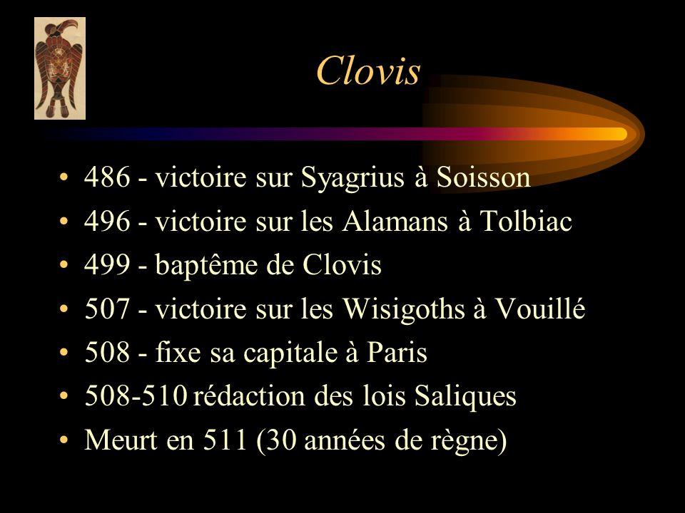 Clovis 486 - victoire sur Syagrius à Soisson