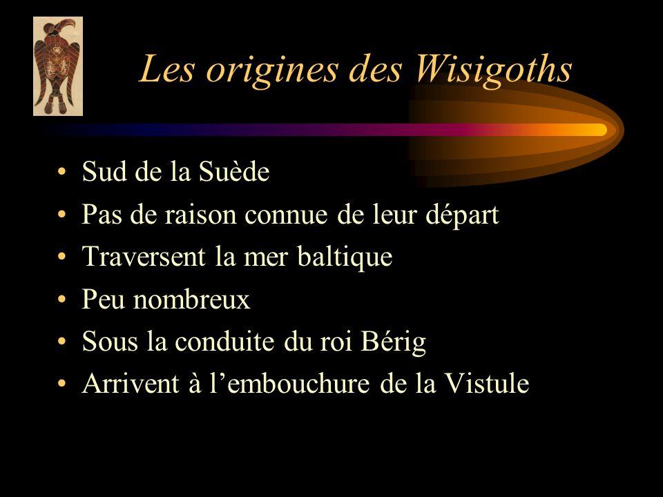 Les origines des Wisigoths