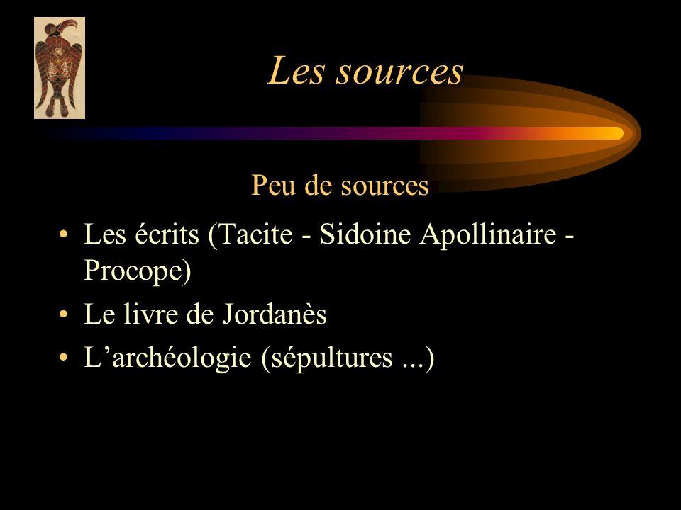 Les sources Peu de sources