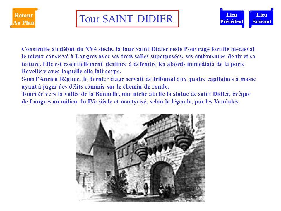 Tour SAINT DIDIER Retour Au Plan