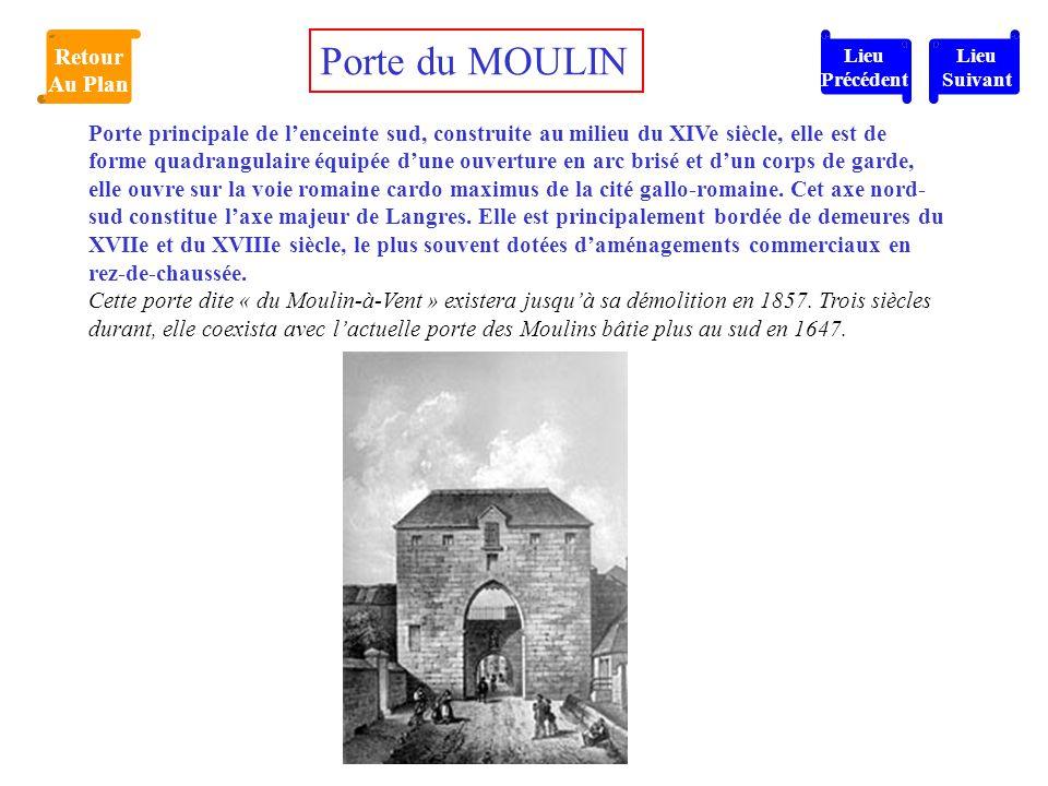 Porte du MOULIN Retour Au Plan