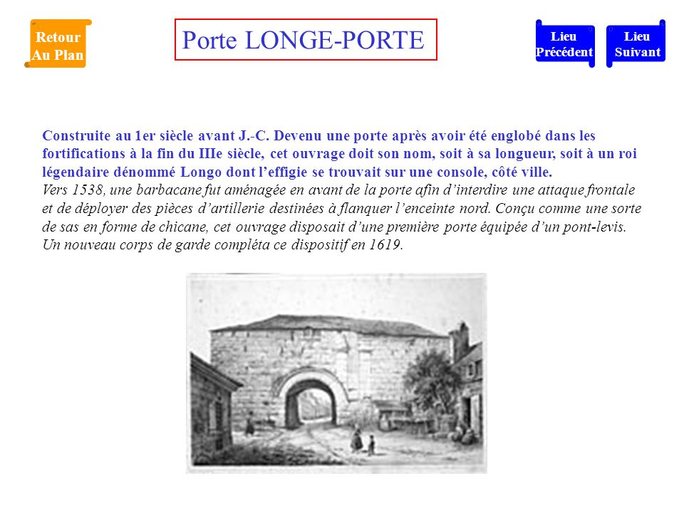 Porte LONGE-PORTE Retour Au Plan