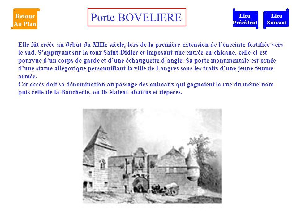 Porte BOVELIERE Retour Au Plan