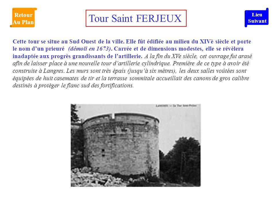 Tour Saint FERJEUX Retour Au Plan