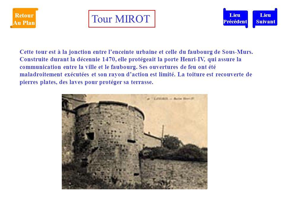 Tour MIROT Retour Au Plan