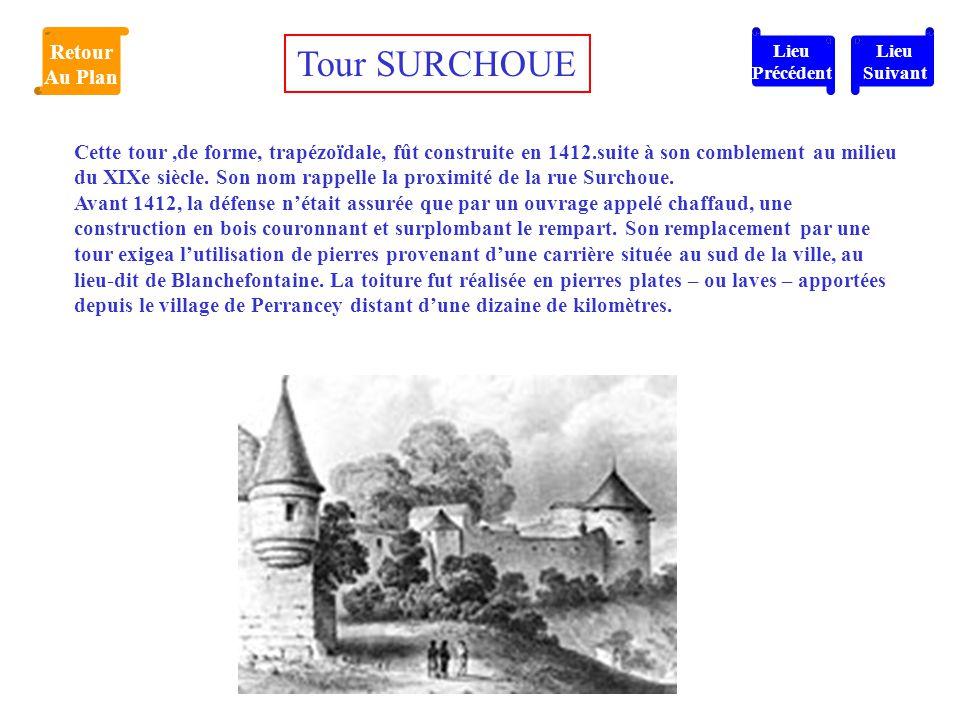 Tour SURCHOUE Retour Au Plan
